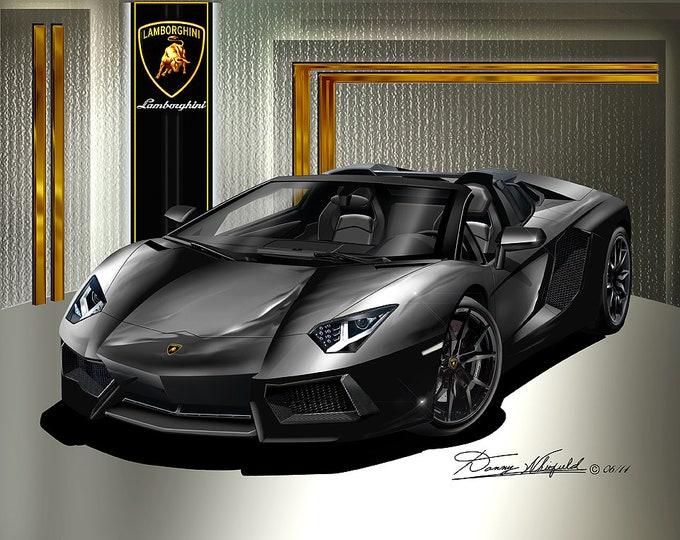 2015 Lamborghini Huracan art prints comes in 8 different colors