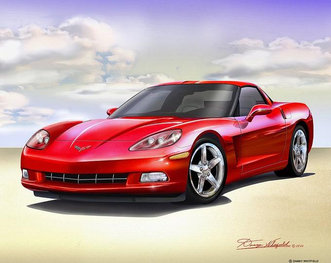 2005-2012 Corvette art prints comes in 8 different exterior colors