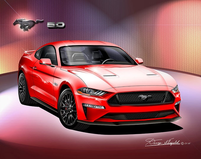2019-2020 Mustang GT art prints comes in 8 different exterior color
