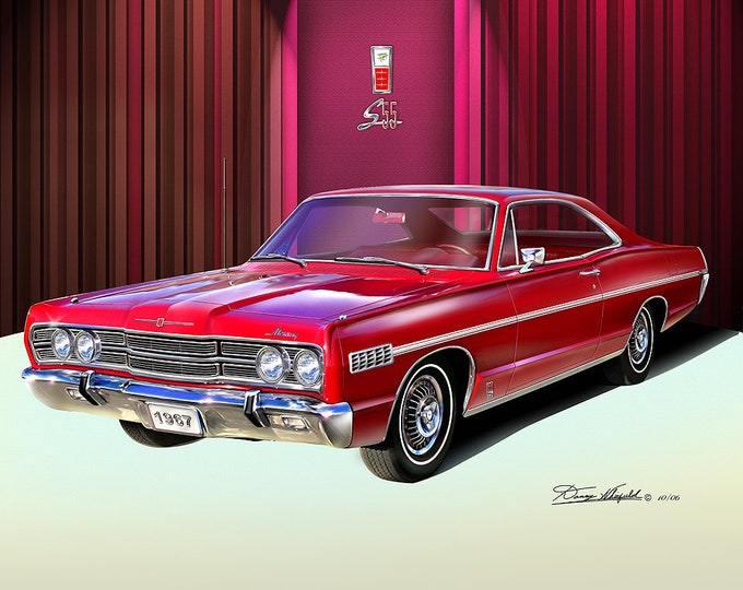 1967 Mercury art prints comes in 9 different styles