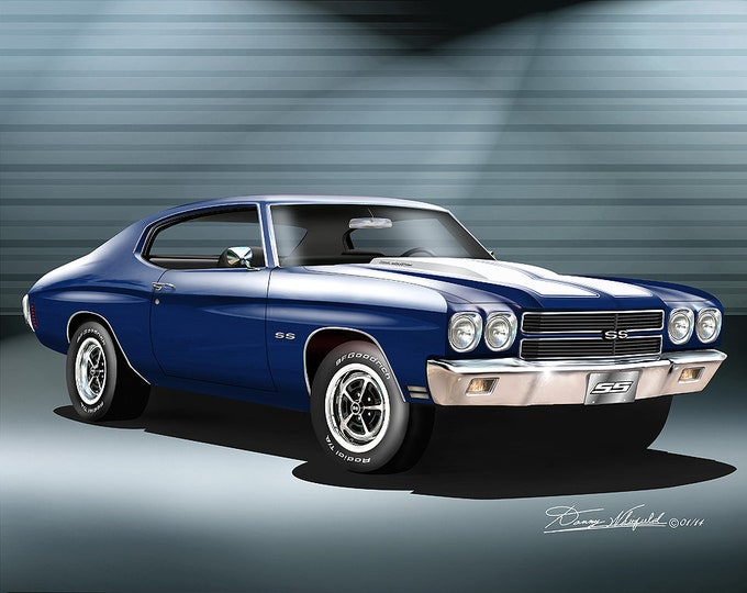 1970 Chevelle Art Prints comes in 10 different colors