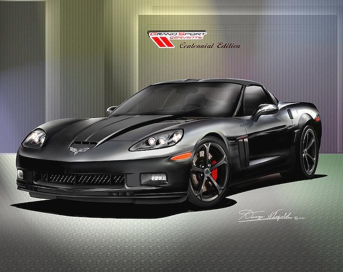 2011-2012 Corvette Grandsport art prints comes in 6 different exterior colors