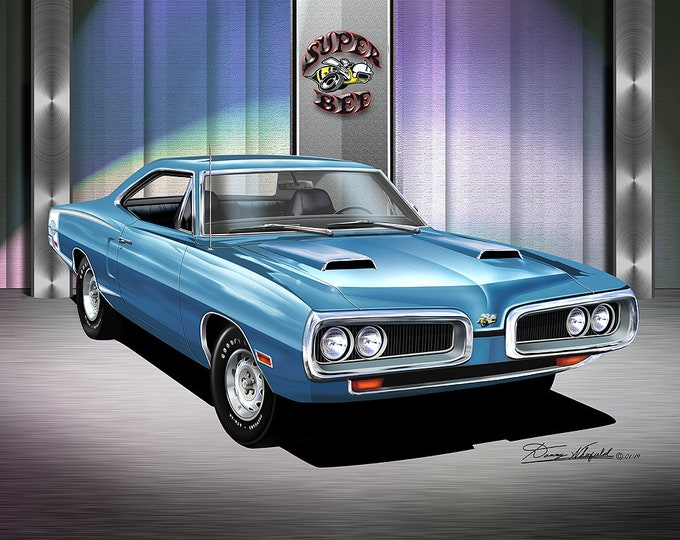 1970 Dodge Super Bee   Art Prints  comes in 10 different exterior colors