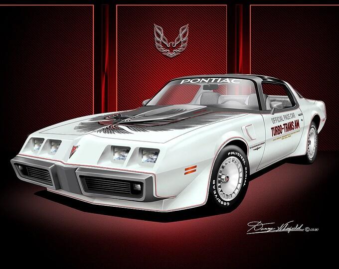 1980-1981 Pontiac Firebird Trans Am art prints comes in 10 different exterior color