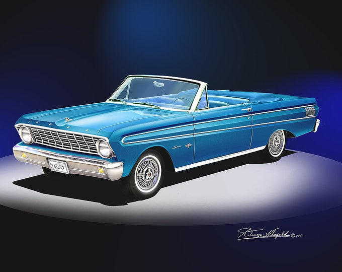 1964 Ford Falcon art prints comes in 5 different colors