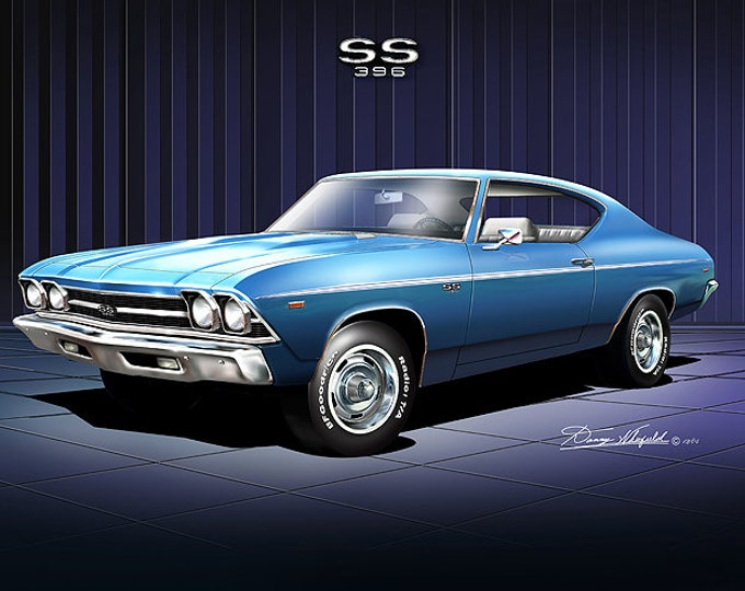 1969 Chevelle Art Prints  comes in 10 different styles