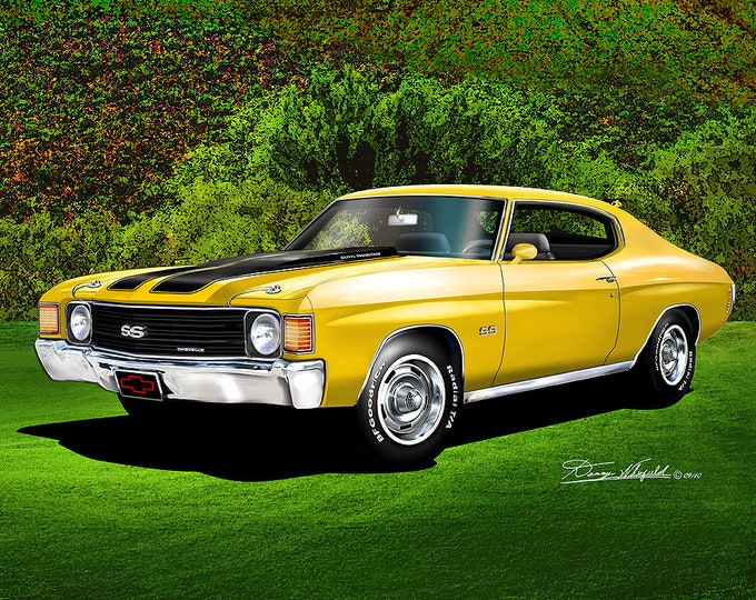 1972 Chevelle Art Prints comes in 10 different colors