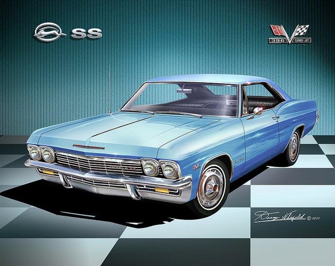 1965 Chevrolet Impala Art Prints  comes in nine different exterior colors