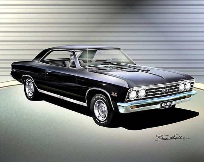 1967 Chevelle Art Prints comes in 6 different colors