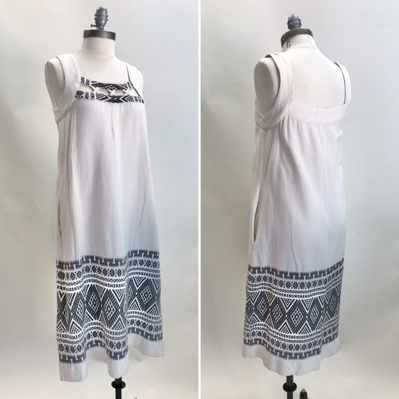 Vintage Boho Cotton Sundress//Music Festival Dress