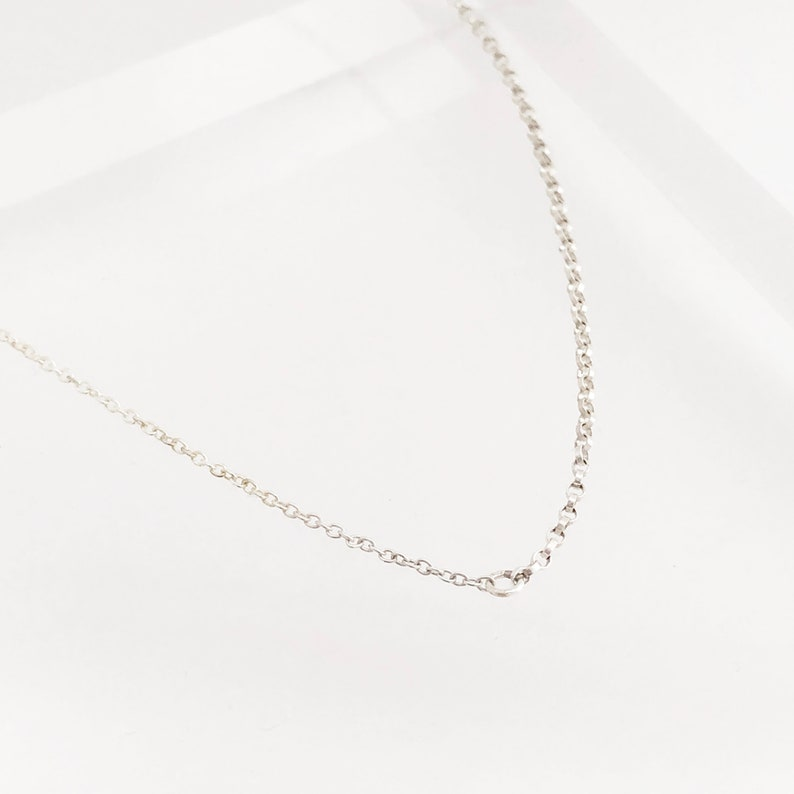 Sterling Silver 2 Chain Necklace Everyday Delicate Layering Necklace