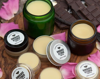 Vanilla Cocoa Balm: Soothing Tallow Beeswax Organic Balm for Lips, Hands & Body by Bordeaux Kitchen Naturals
