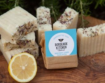 Refreshing Rosemary Lemon Eucalyptus Tallow Bar Soap by Bordeaux Kitchen Naturals