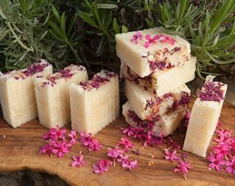 Magnolia Geranium Moisturizing Beauty Bar Tallow Soap by Bordeaux Kitchen Naturals
