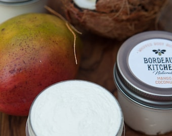 Mango Coconut Complex Whipped Body Butter with Tallow, Shea Butter and Organic Nourishing Oils by Bordeaux Kitchen Naturals