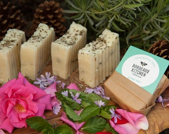 Refreshing Alpine Mint Tallow Handcrafted Bar Soap by Bordeaux Kitchen Naturals