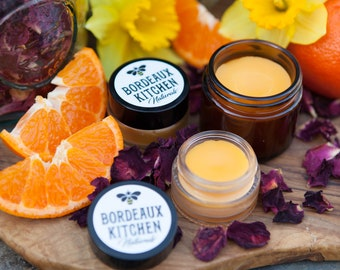 Exquisite Nighttime Complex Eye & Face Cream in Sweet Orange Rose with Organic Oils, Grassfed Tallow, Beeswax - Intensive and Rejuvenating