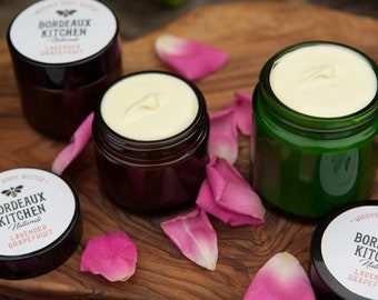 Smooth & Rich French Lavender Grapefruit Whipped Body Butter with Pastured Tallow and Avocado Oil by Bordeaux Kitchen Naturals