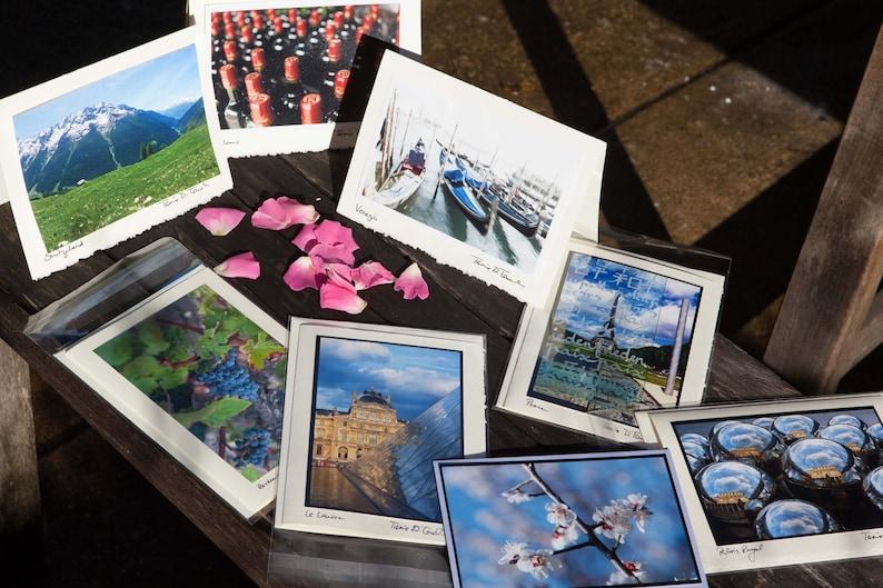 Photo Note Card Sets: Paris Venice Bordeaux Moscow Japan image 1