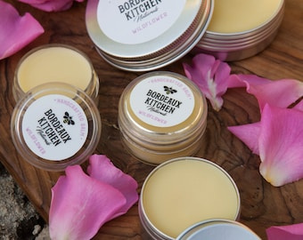 Organic Wildflower Balm: Soothing Tallow Beeswax Balm for Lips, Face, Hands & Body by Bordeaux Kitchen Naturals
