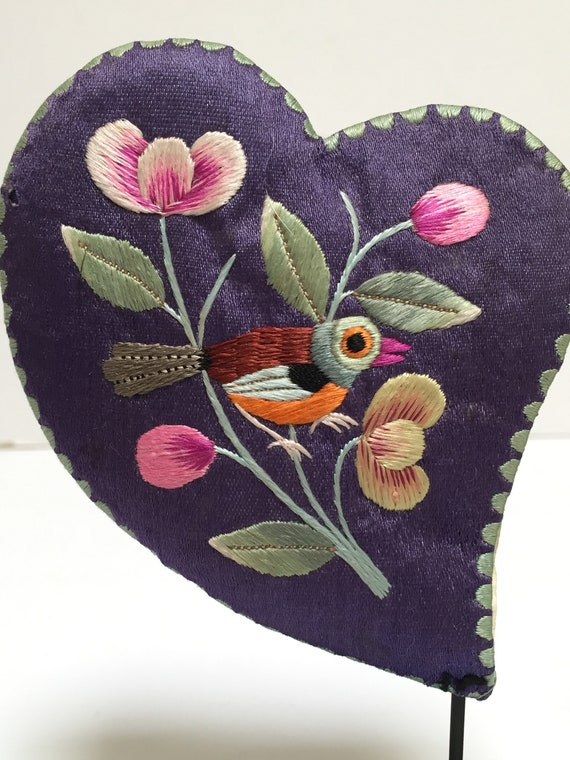 Chinese Ear Muffs, Vintage Child's Hand-Embroidere