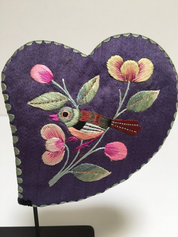 Chinese Ear Muffs, Vintage Child's Hand-Embroider… - image 2