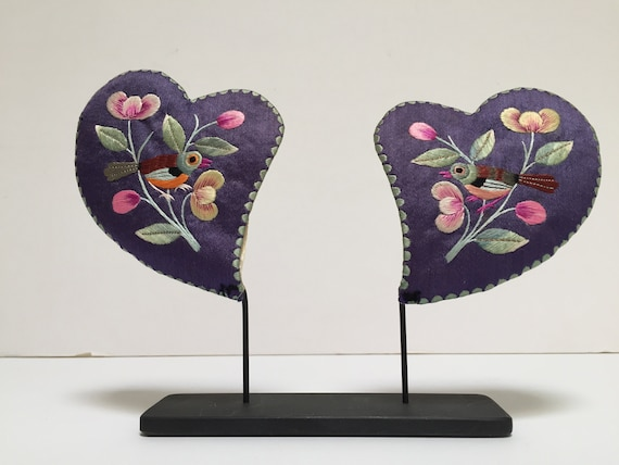 Chinese Ear Muffs, Vintage Child's Hand-Embroider… - image 3