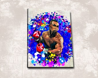 Mike Tyson of Signed Autograph Boxing Quote Art Silk Poster 12x18 24x36