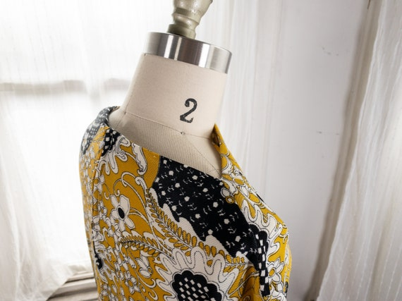 yellow psychedelic print dress - image 8