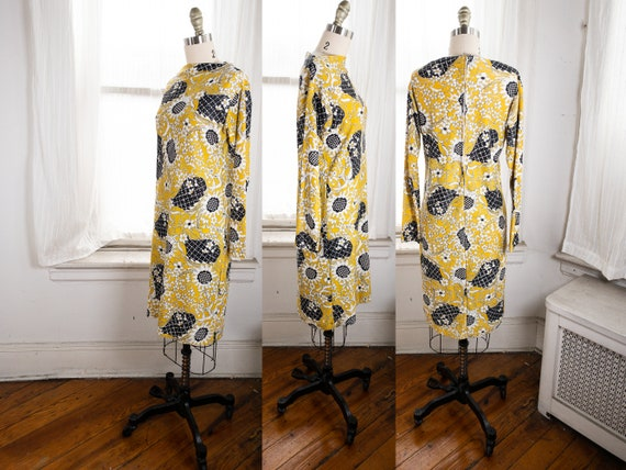 yellow psychedelic print dress - image 10