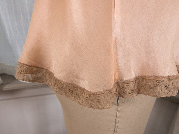 blush pink silk camisole with lace appliqué - image 8