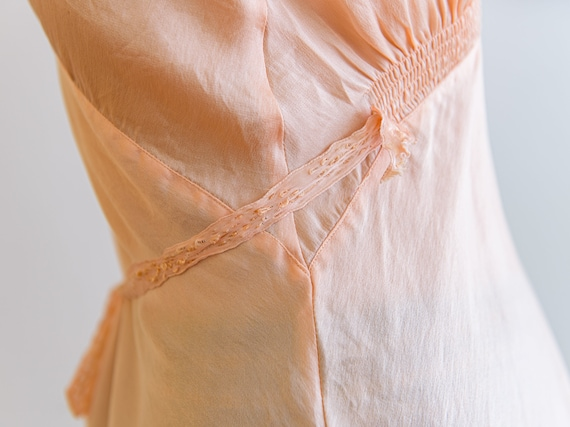 blush pink silk camisole with lace appliqué - image 7