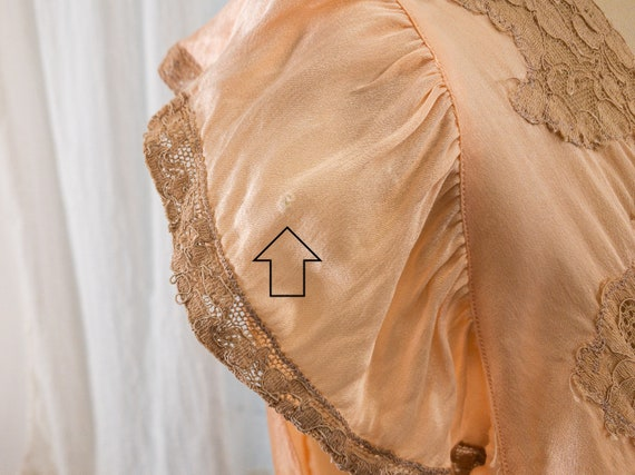 blush pink silk camisole with lace appliqué - image 9