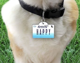 Kentucky Wildcats Dog Tag Cat Tag Pet Id Tag Personalized w// Name /& Number