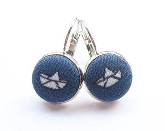 Earrings maritim paper boat