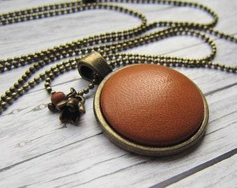 LEDER Chain Cognac