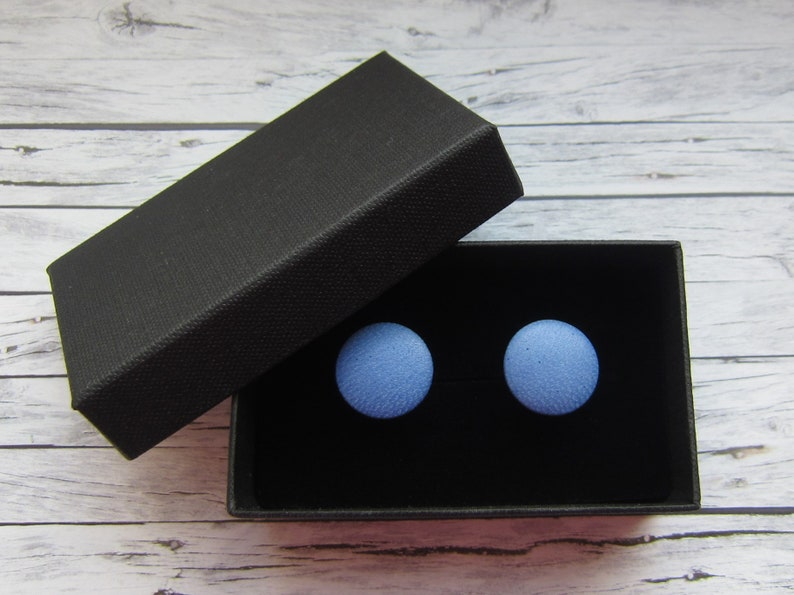 LEDER Cufflinks SUMMERBLUE image 0