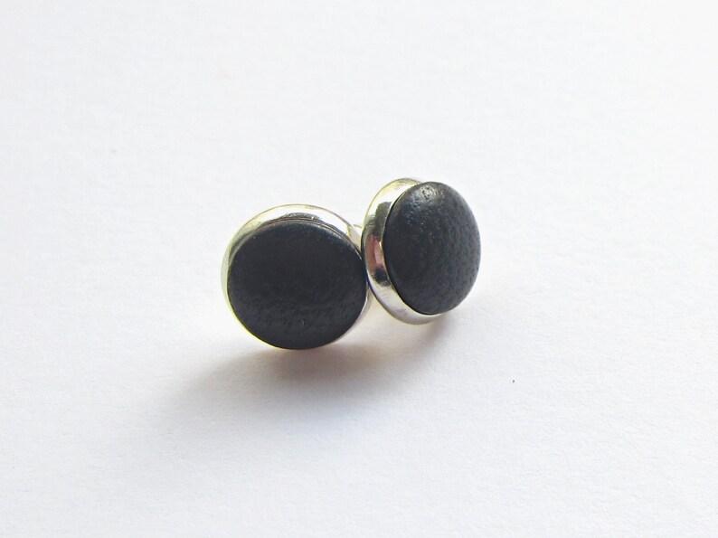 Studs LEDER BLACK image 0