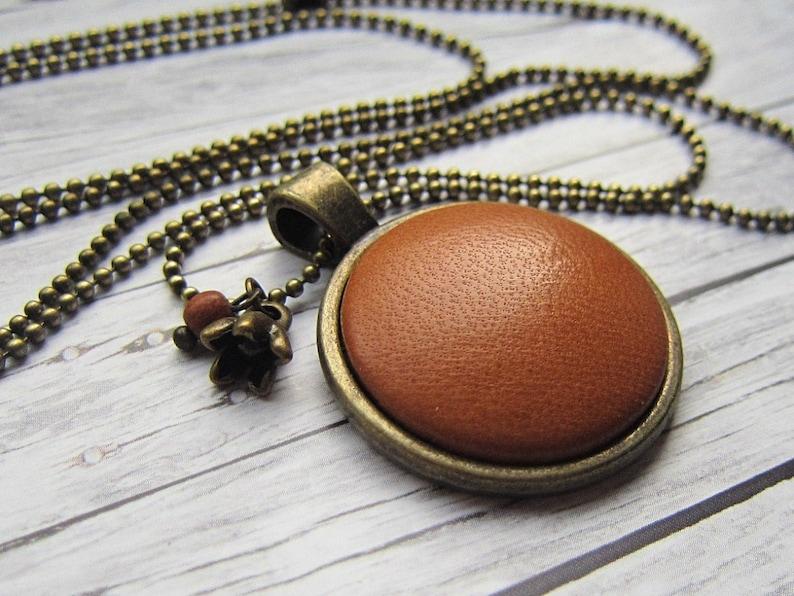 LEDER Chain Cognac image 0