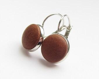 Earrings LEDER COGNAC