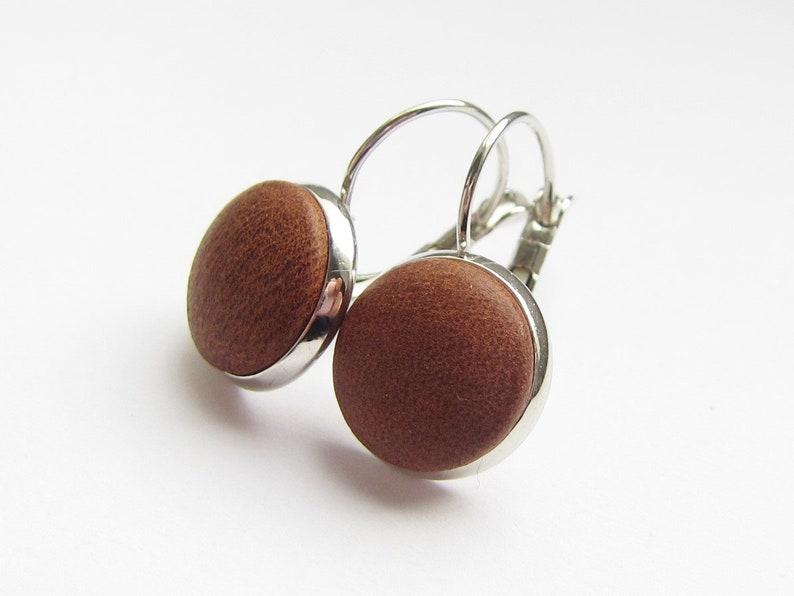 Earrings LEDER COGNAC image 0