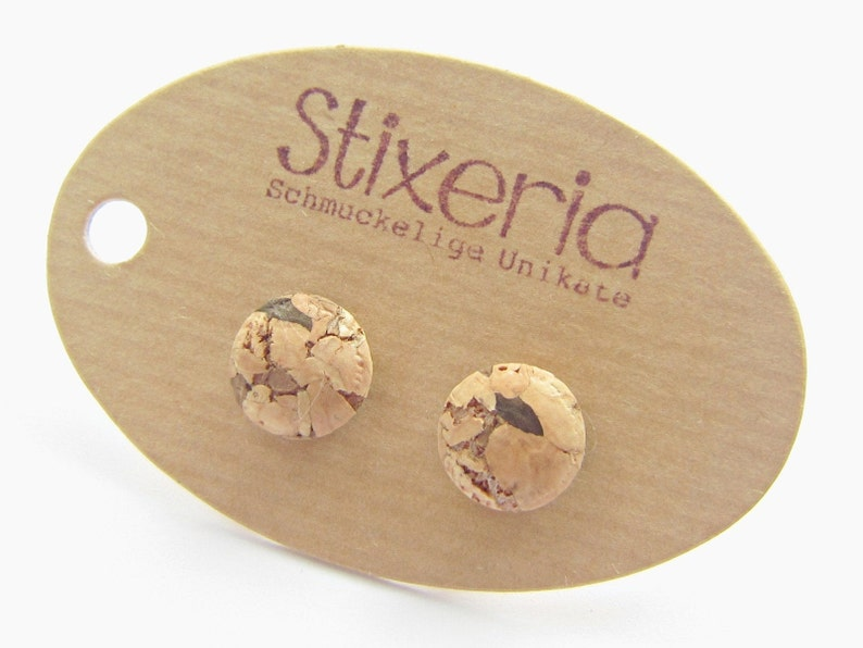 KORK stud earrings mini 10 mm image 0