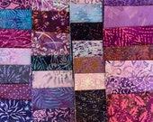 80 5 Batik Charm Squares, 2 repeats of 40 fabrics