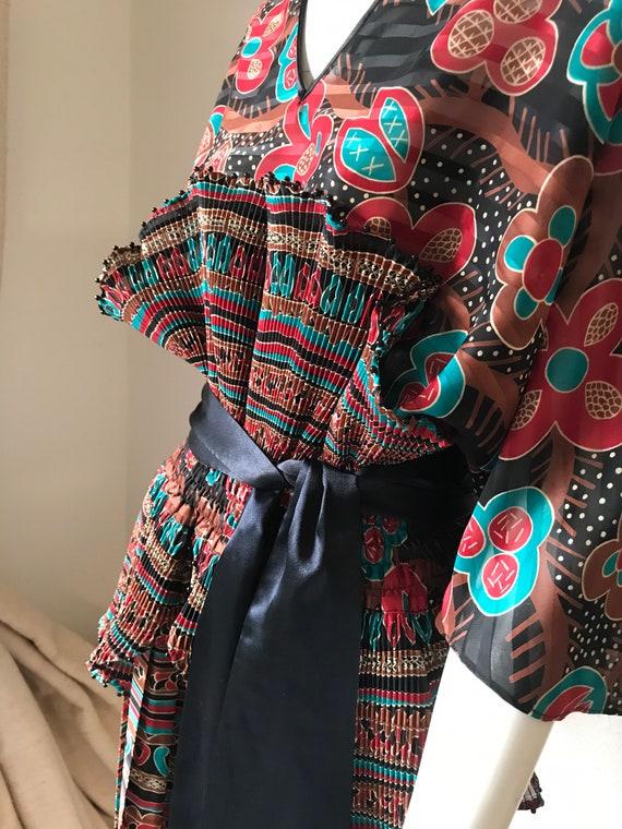 Kanga Russian Collection Lady Tryon Boho maxi plea