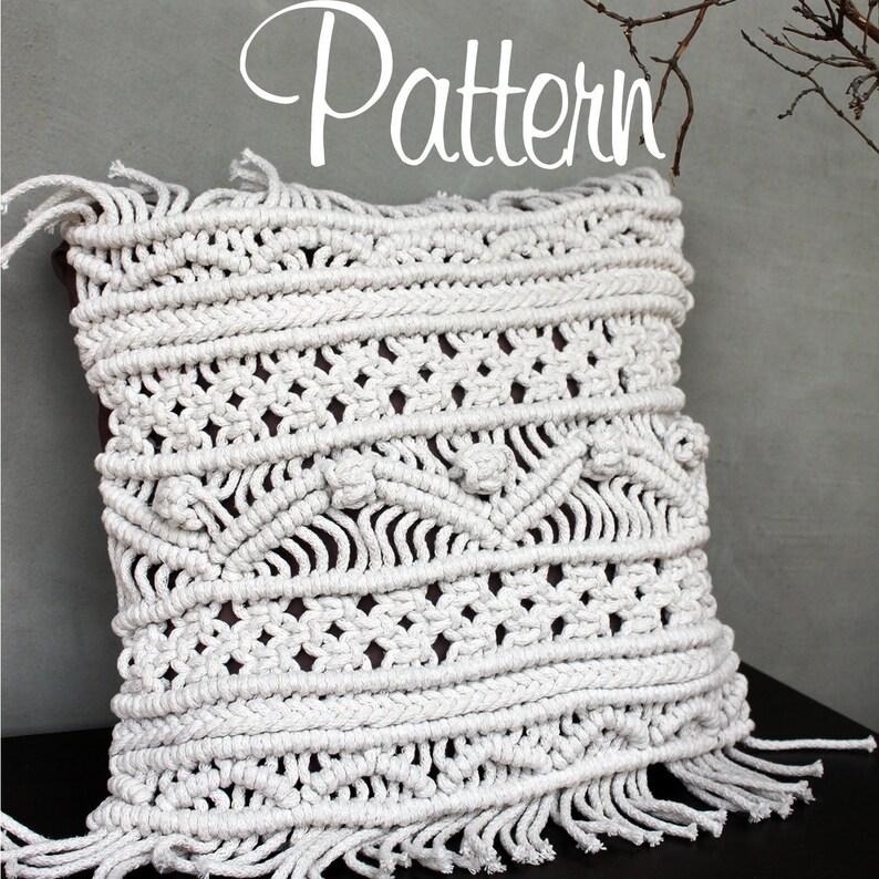 Macrame pattern pillowcase pdf macrame pillow case boho home image 0