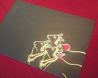 Sacred Cows Original Painting  (012)