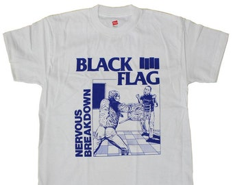 Black Flag Nervous Breakdown Shirt Fully Licensed Punk Rock