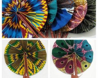 Details about  /Handmade African Kente Ankara Print Portable Folding Summer Holiday Handfan