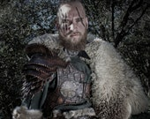 Larp viking armor. Leather armor for a celtic, barbarian, pagan or medieval cosplay