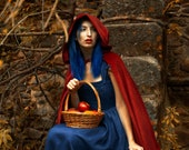 Red Fantasy cape, cosplay cloak. Fantasy cloak costume  for red riding hood